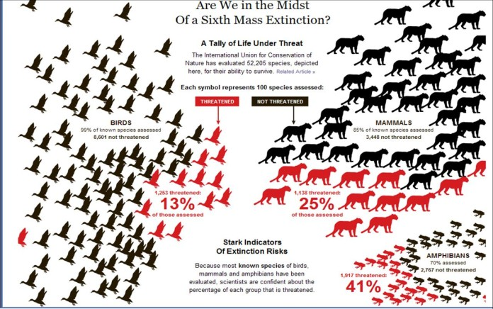 sixth extinction, Sixth mass extinction is here, sixth extinction science, next mass extinction is now, new mass extinction going on now