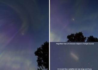ufo aurora, moving cloud in aurora, aurora ufo, are ufo flying through auroras