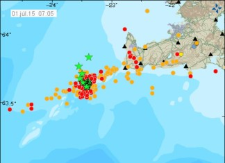 earthquake swarm iceland july 2015, iceland earthquake swarm july 2015, 200 quakes rattle southern iceland july 2015, sign of new underwater explosion: 200 earthquakes recorded in iceland, earthquake swarm iceland july 2015