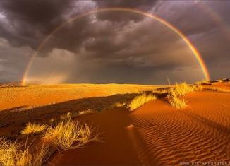 rainbow desert, rainbow namib desert, rainbow desert forster, rainbow desert photo forster, extremely rare rainbow in Namib desert photo