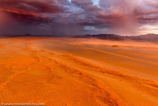 storm desert, storm desert photo, thunderstorm in namib desert photo