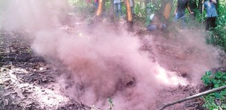 underground inferno sinkhole india july 2015, mysterious inferno india, mystery sinkhole swallows forest in india, underground blaze sinkhole india, underground inferno sinkholes india, underground fire sinkhole inida july 2015
