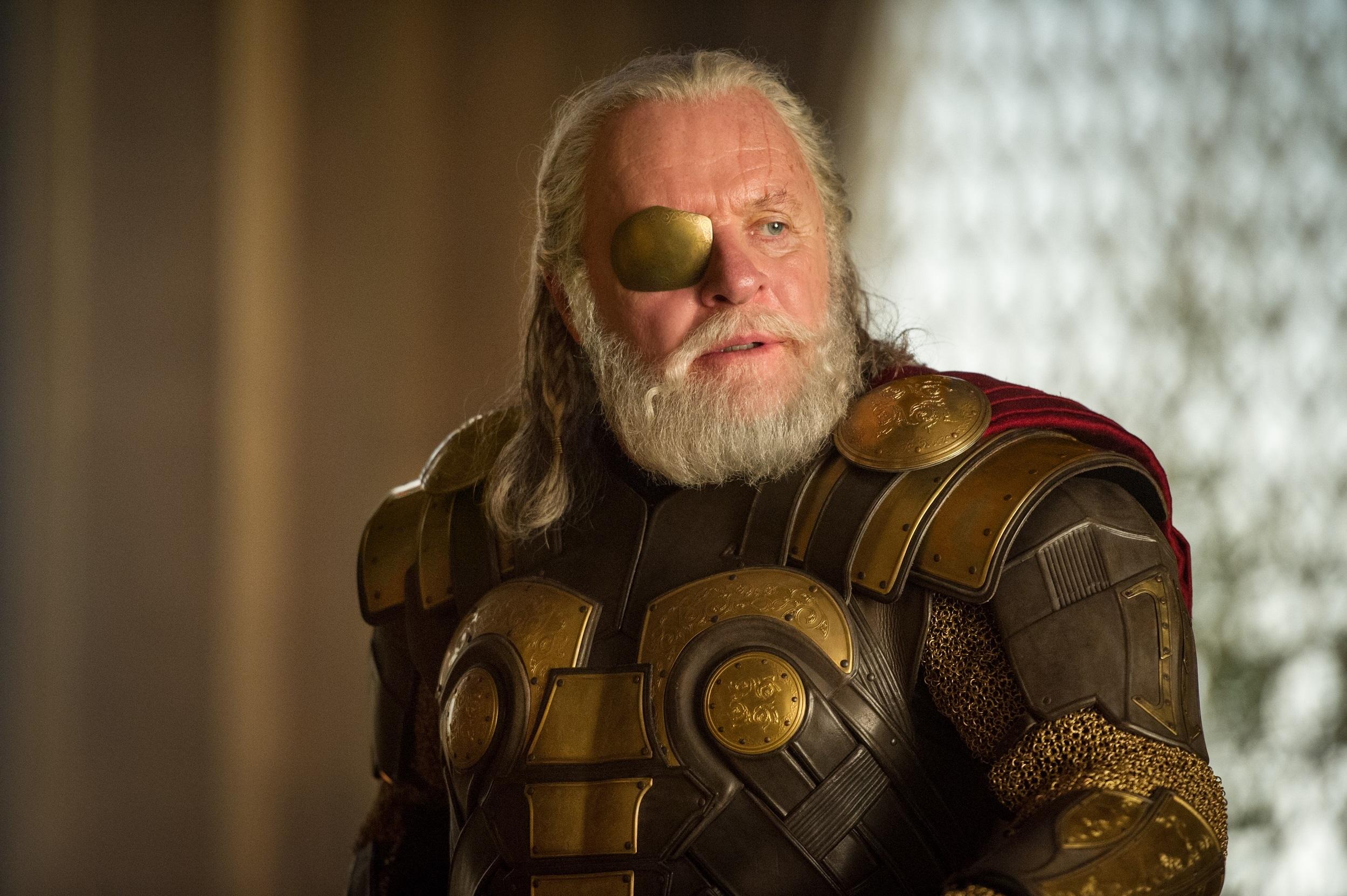 odin, odin movie, odin anthony hopkins, Odin in Marvels Thor: The Dark World