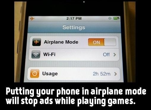 game adblock, airplane mode adblock, adblock games phone, airplane mode phone ad, how to not show ads during game on phone