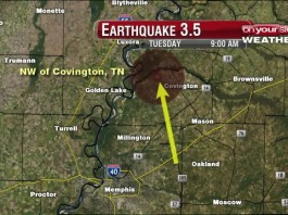 earthquake covington Tennessee, earthquake covington Tennessee 2015, M3.5 earthquake strikes the New Madrid Seismic Zone in Tennessee, earthquake covington Tennessee august 2015