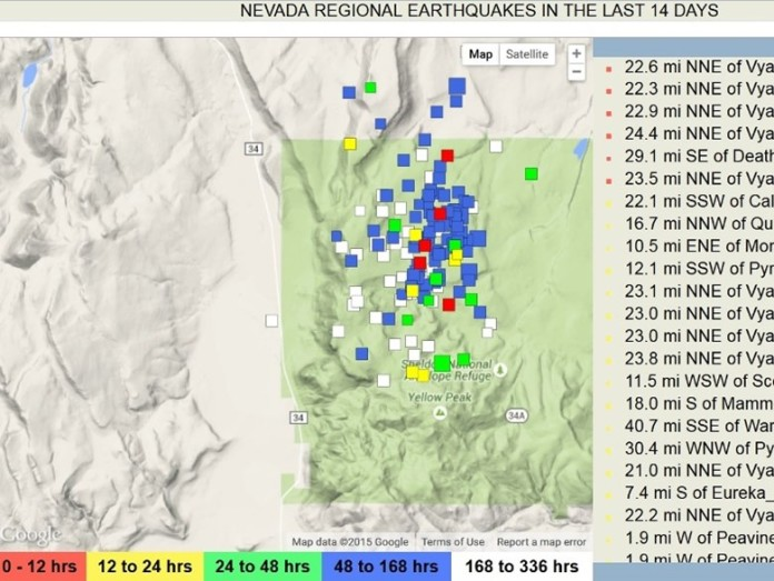 5700 quakes rattle Nevada, earthquake swarm nevada, nevada rattled by 5700 earthquakes, nevada earthquake swarm 2015, 5700 rattle nevada within 2 months, earthquake swarms nevada, nevada quake swarm 5700 earthquakes hit nevada