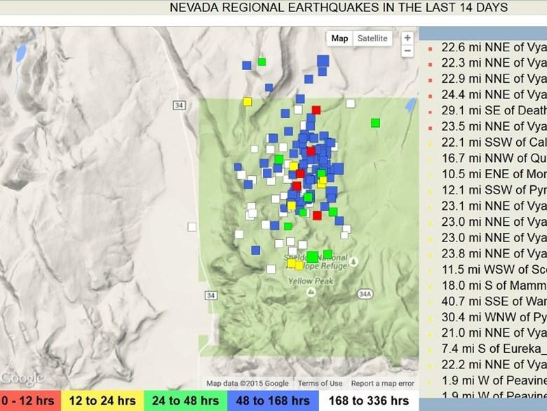5700 quakes rattle Nevada, earthquake swarm nevada, nevada rattled by 5700 earthquakes, nevada earthquake swarm 2015, 5700 rattle nevada within 2 months, earthquake swarms nevada, nevada quake swarm 5700 earthquakes hit nevada