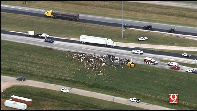 Semi Hauling Honey Bee crash oklahoma, Truck hauling honey bees overturns in Oklahoma , Semi Hauling Honey Bee crash oklahoma sept 2015, Truck hauling honey bees overturns in Oklahoma september 2015, Truck hauling honey bees overturns in Oklahoma photo, Truck hauling honey bees overturns in Oklahoma video, Semi Hauling Honey Bee crash oklahoma photo and video