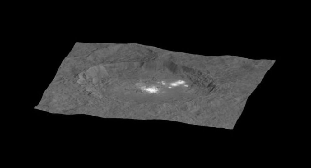 ceres mysterious spots, ceres mysterious bright spots, ceres bright spot new photo, ceres mysterious spot dawn spacecraft, ceres mysterious spots photo HD, new pictures ceres mysterious spots, The Occator crater and its mysterious bright spots.