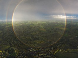 circular rainbow, circular double rainbow, circular rainbow picture, circular double rainbow september 2015, circular double rainbow netherland photo, circular double rainbow september 2015, This circular double rainbow was taken from a drone by Martijn Harleman on September 16, 2015 @ Gorssel, Netherlands... Incredibly rare sight.
