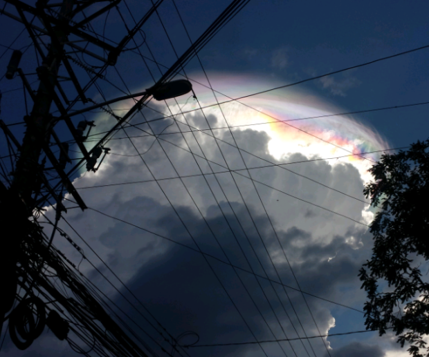 rainbow clouds, rainbow cloud, iridescent cloud, rainbow clouds costa rica, fire rainbow costa rica september 2015, rainbow cloud picture, best iridescent cloud pictures