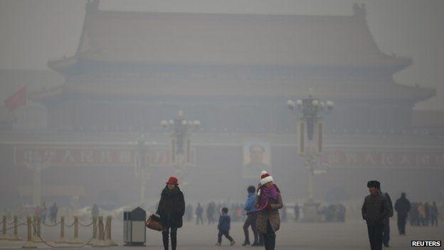 smog beijing, smog pollution beijing, pollution beijing, China pollution: Beijing smog hits hazardous levels