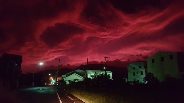 blood sky taiwan, blood sky taiwan photo, blood sky taiwan video, blood sky taiwan pictures, blood sky taiwan Taitung Typhoon Dujuan, blood sky typhoon dujuan