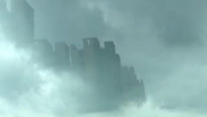 blue beam project, project blue beam, nasa project blue beam, city appears in sky of foshan, blue beam project reality, skycrapers appear in the cloud over china, mysterious mirage over city in china, What are these skycrapers doing in the sky over Foshan