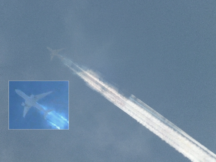 chemtrail contrail gif, chemtrail, contrail, chemtrail gif, contrail gif,Are these contrails? Or chemtrails? Eerie gif shows smoke trails coming out of a C-17 Globemaster III engines over the Netherlands