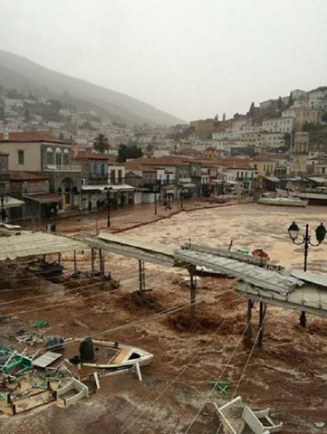 hydra greece floods, hydra floods, hydra flooding 2015, hydra floods october 2015, hydra floods october 2015 pictures, hydra floods video