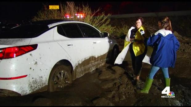 mudslide flash flood la county ca, cars trapped mudslide flash flood la county october 15 2015, flash flood la county photo, flash flood mudslide la county october 15 2015, I5 closed due to flash floods and mudslides, flash flood la county october 2015