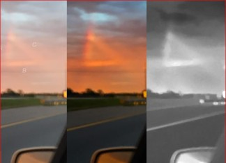 mysterious red triangle mississippi, triangular ufomississippi, ufo sightings mississippi, red triangular ufo mississippi, what is this strange red triangle in the sky of mississippi, Close-up images of this mysterious red triangle in the sky of Mississippi