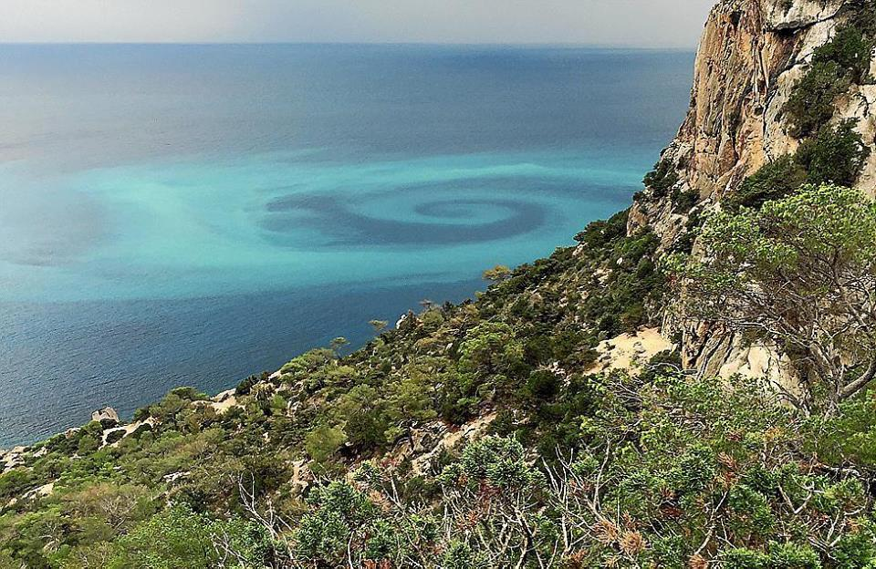 Mysterious giant spiral appears off Ibiza between Sa Pedrera