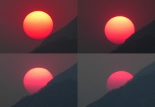 sun, magenta sun, orange sun, yellow sun, sunset colors wildfire, wildfires changes color of sun, smoke of wildfire changes color of sun, sunset colors through smoke, But why is the color of the sun changing from yellow to magenta? ,