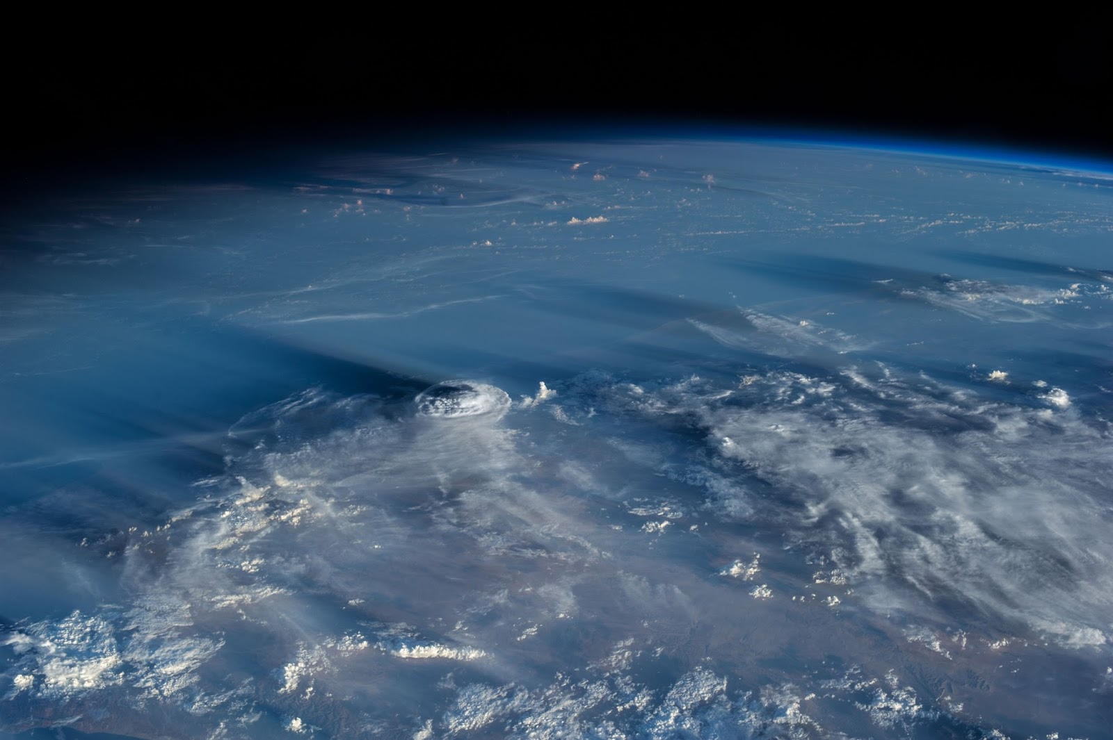 Clouds cast giant shadows into Space from ISS - Strange Sounds