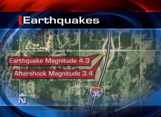 edmond earthquake oklahoma, edmond earthquakes oklahoma, 2 earthquakes rattle edmond oklahoma, 2 quakes oklahoma, edmond quakes, 2 quakes rattle edmond oklahoma, Map of the earthquakes that hit Edmond, Oklahoma on December 28, 2015
