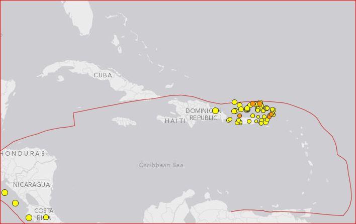 puerto rico earthquake swarm, puerto rico earthquake swarm december 2015, dangerous earthquake swarm puerto rico, tsunami earthquake swarm puerto rico, Earthquake Swarm Continues Near Puerto Rico december 2015, Puerto Rico Trench subduction zone earthquake swarm december 2015