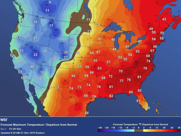 us warmest christmas eve 2015, warmest year on record, warmest christmas eve 2015 usa, usa warmest christmas eve 2015, 2015 warmest year on record