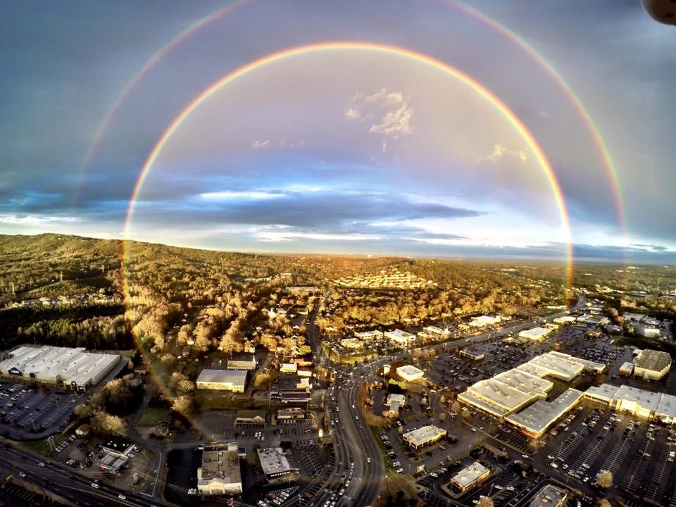 Full Circle Rainbow Over Greenville South Carolina Strange Sounds - 17 breathtaking photos of rare double rainbows