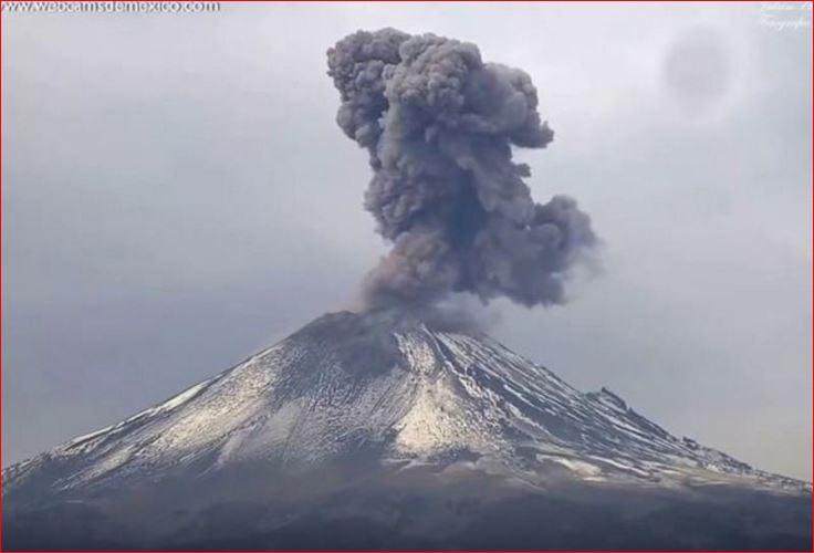 Popocatepetl Volcano eruption, volcano eruption january 2016, volcanic eruption january 2016, Popocatepetl Volcano eruption january 2016