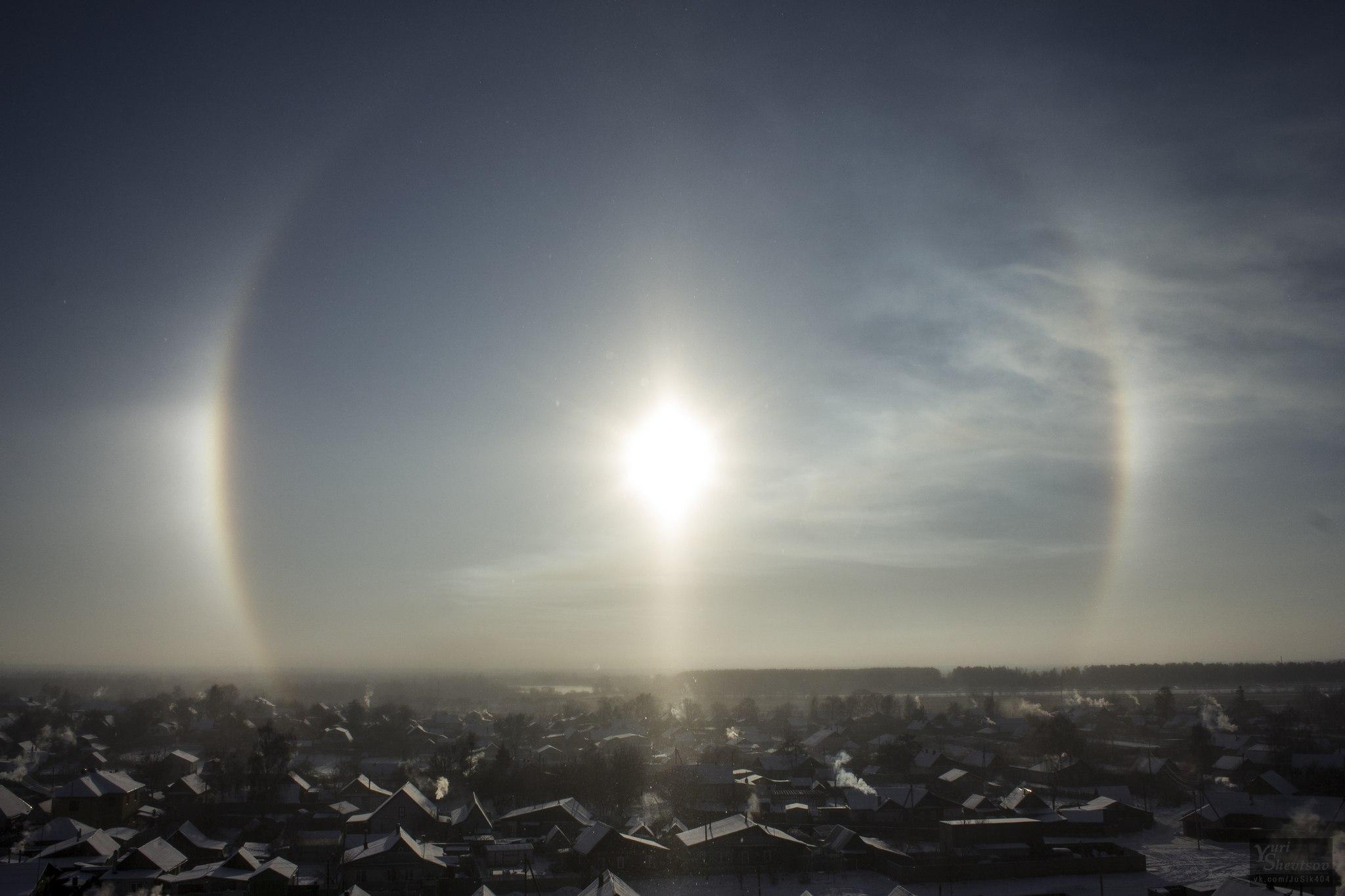 three suns galo belarus phenomenon belarus, three suns appear in the sky of belarus, sundogs belarus, sundogs 2016, sundogs january 2016, three suns galo belarus, parhelia january 2016, sundogs pictures january 2016