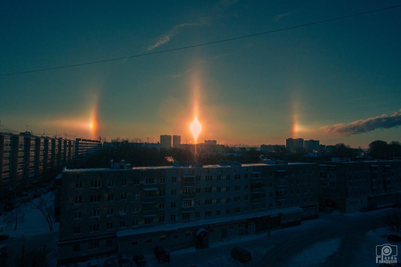 three suns kazan, three suns kazan january 2016, three suns russia, three suns russia january 2016, three suns kazan russia pictures, photo three suns kazan, kazan sundogs january 2016