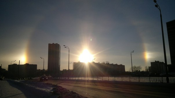 three suns kazan, three suns kazan january 2016, three suns russia, three suns russia january 2016, three suns kazan russia pictures, photo three suns kazan, kazan sundogs january 2016