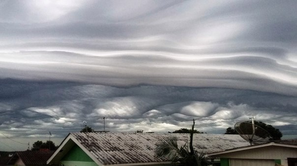 asperatus shelf cloud brazil, undulatus asperatus in shelf cloud brazil, strange clouds february 2016, weird cloud formation february 2016