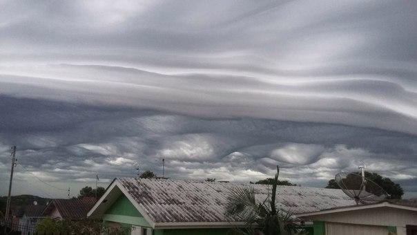 asperatus shelf cloud brazil, undulatus asperatus in shelf cloud brazil, strange clouds february 2016, weird cloud formation february 2016