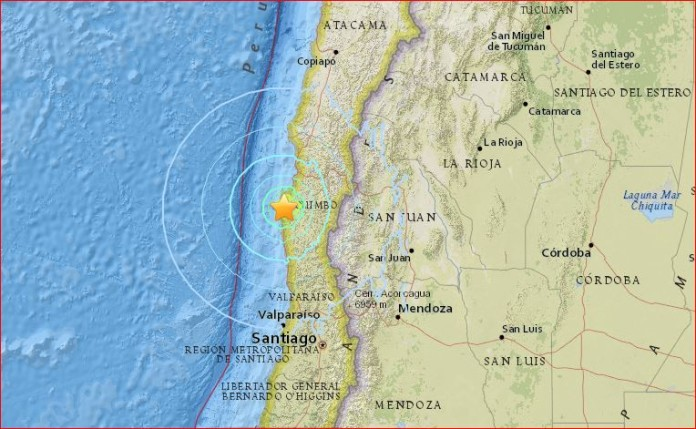 chile earthquake M6.3 february 10 2016, chile earthquake M6.3 february 9 2016, Ovalle chile earthquake, latest earthquake chile, latest strong earthquake february 2016