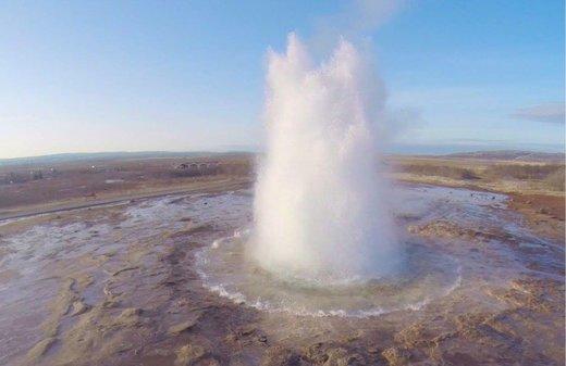 great geysir iceland, great geysir iceland eruption february 2016, great geysir iceland eruption video february 2016