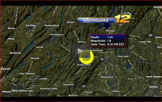 new jersey earthquake ramapo fault february 18 2016, A federal environmental agency says a small earthquake has hit northern New Jersey for the second time in less than two months., USGS confirms 1.6-magnitude earthquake in northern NJ