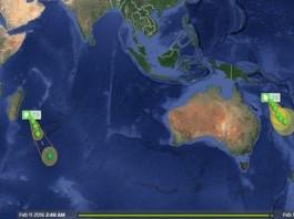 tropical cyclone daya eleven tatiana, tropical cyclone daya, tropical cyclone eleven, tropical cyclone tatiana, 3 tropical cyclones form in southern oceans, tropical cyclone news, new tropical cyclones february 2016