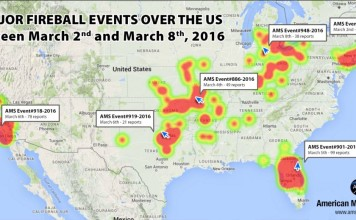 increased fireball activity march 2016, fireball activity increases in march 2016, massive increase in fireball activity march 2016, fireball events increase us, us fireball events increase march 2016, 6 major fireball events March 2016, While March is known for being quiet, 6 major meteor events have lit up the US sky. And nobody knows why. So What is going on wih all these meteor showers?, Rate of meteor fireballs over US so far in 2016 is DOUBLE that of 2015