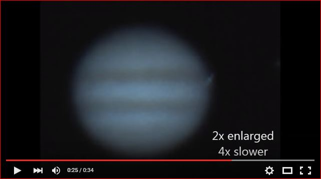 asteroid slams into jupiter video, asteroid slams into jupiter video myrch 2016, astronomer films asteroid slamming into jupiter