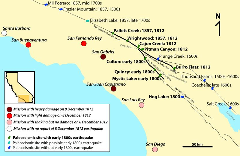 Two Earthquake Faults May Create A Big One In California Strange - Andreas fault map