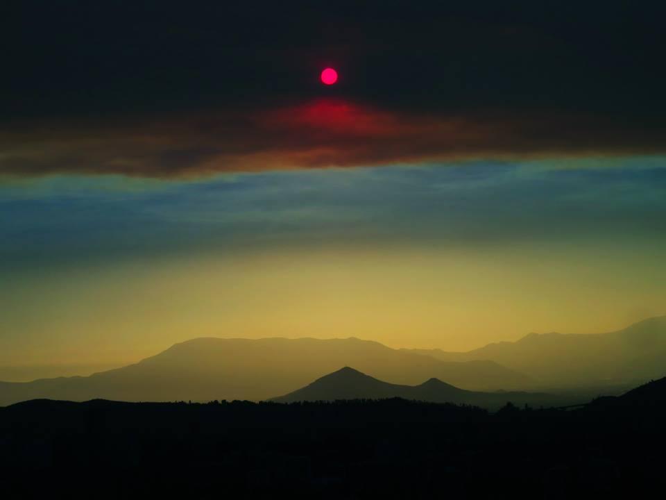 blood red sun chile, blood red sun santiago de chile, blood red sun santiago de chile pictures, red sun chile, red sun santiago de chile, santiago de chile blood red sun,