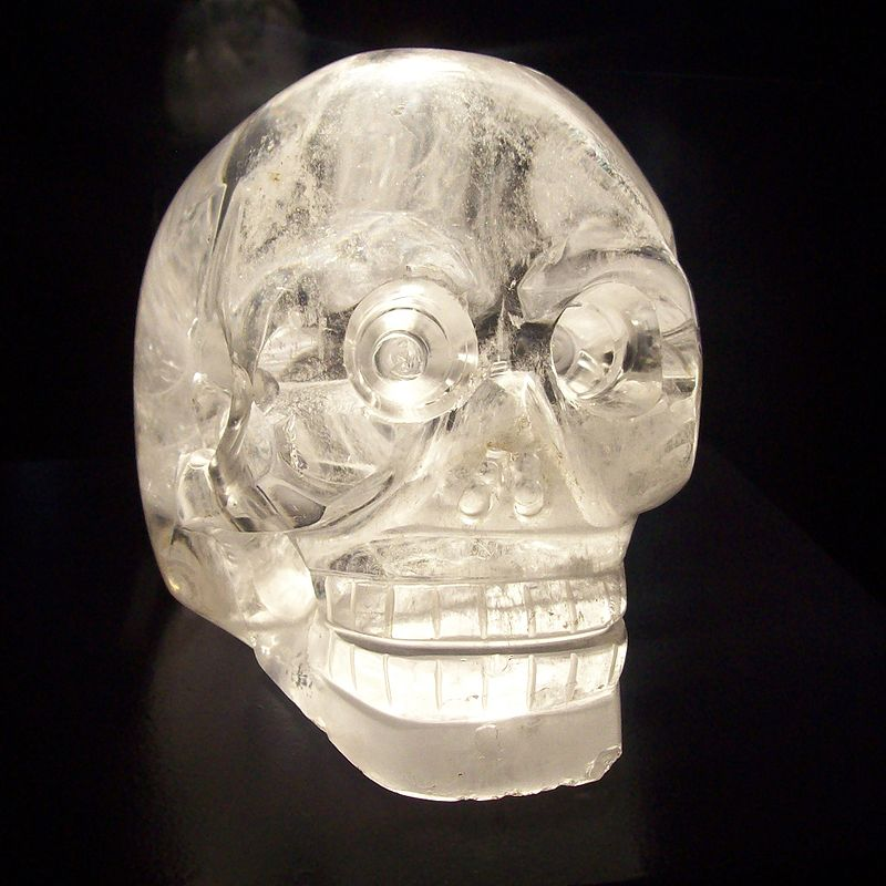 crystal skulls, crystal skulls mystery,crystal skulls legend, crystal skulls picture, crystal skulls video, crystal skulls power, This specimen, owned by the British Museum in London, was originally thought to have been made by the Aztec of Mexico but was later determined to be a fake. Photograph by AFP/Getty ImagesBy Richard A. Lovett and Scot Hoffman