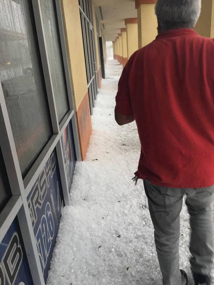 A violent hailstorm engulfed Osceola County, Florida on March 26, 2016. Florida-hailstorm-2