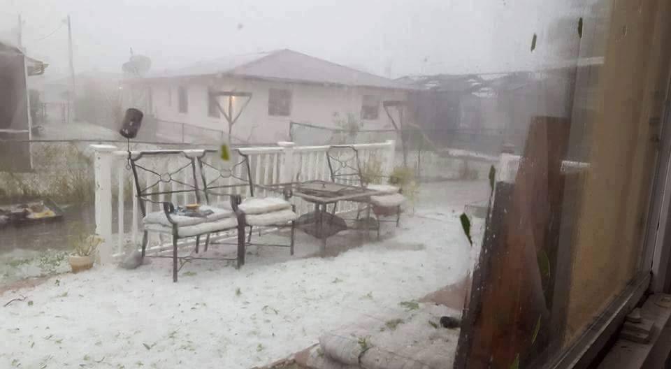 A violent hailstorm engulfed Osceola County, Florida on March 26, 2016. Florida-hailstorm-4