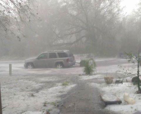 A violent hailstorm engulfed Osceola County, Florida on March 26, 2016. Florida-hailstorm