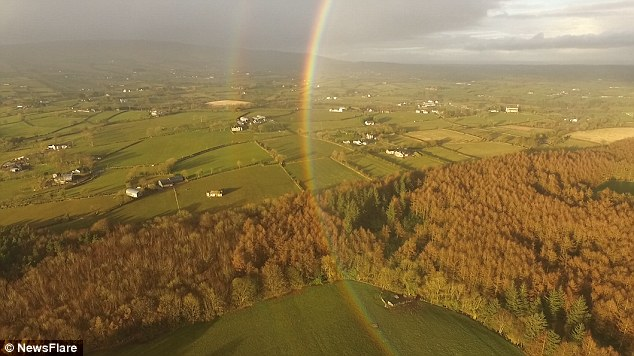full circle rainbow, full circle rainbow video, full circle rainbow ireland, full circle rainbow ireland video, full circle rainbow ireland drone video