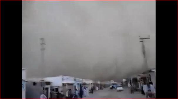haboob pakistan turns black, haboob balochistan pakistan turns city black, blakened city after haboob pakistan, pakistan haboob march 2016, haboob pakistan march 2016, city blackened by haboob in pakistan, pakistan city blackened by sandstorm