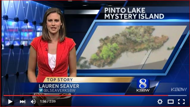new island pinto lake, mysterious new island pinto lake, new island pinto lake mystery, strange new island pinto lake appears, new island appears on pinto lake, new island forms in pinto lake
